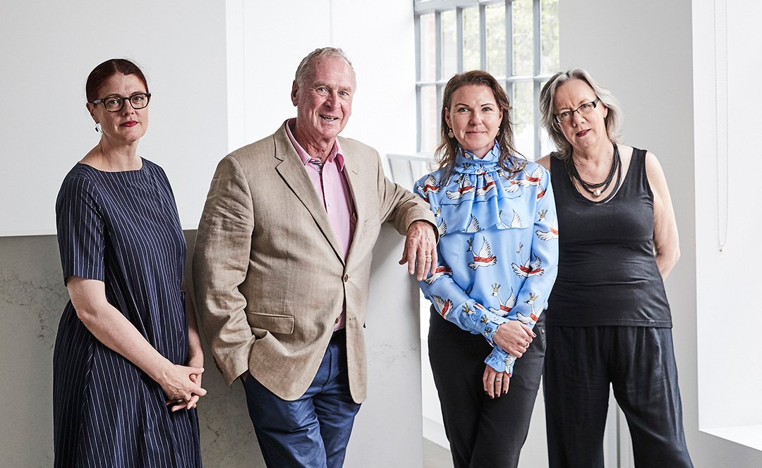 Melissa Keys, Michael Buxton, Luisa Bosci and Professor Su Baker, Buxton Contemporary. Photo: James Geer